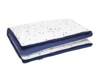 Kinderbettwäsche gepunktet dunkelblau aus Baumwolle hochwertig