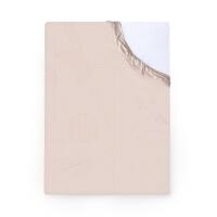 Foonka Spannbettlaken rosa mit Punkten Am I
