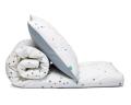 Schöne Kinderbettwäsche Punkte grau Konfetti aus zertifizierter Baumwolle