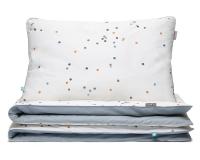 Kinderbettwäsche Punkte grau aus hochwertiger Baumwolle