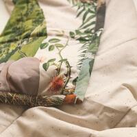 Bettüberwurf mit stylischen Illustration von Aleksandra Morawiak Foonka
