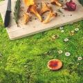 Baumwoll Tischdecke Moos Optik von Foonka