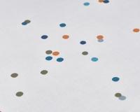 Baumwoll-Kinderbettwäsche bunte Punkte und Rückseite in uni grau