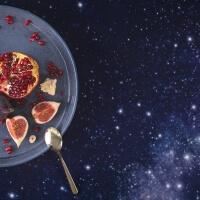 Tischdecke Sterne Nordhimmel von Foonka