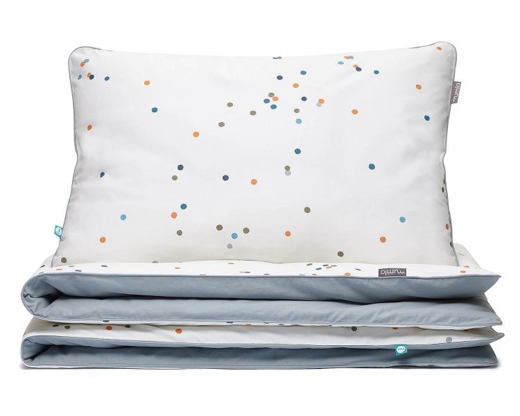 Bettwäsche Punkte grau aus hochwertiger Baumwolle