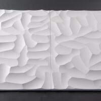 3D Wand aus Holz 060, fugenlose Verbindung
