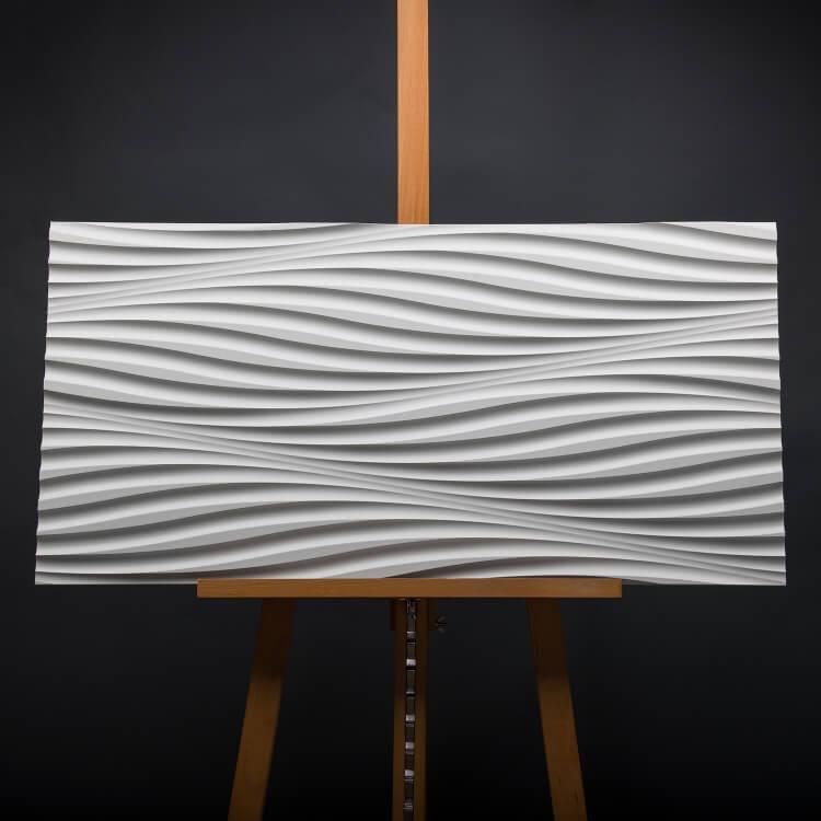 3D Wandpaneel 001 aus MDF Holzplatte mit Wellen Muster