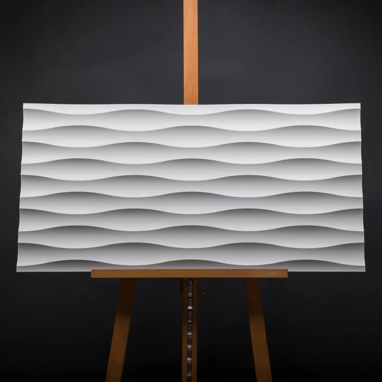 3D Wandpaneel MDF 020 mit Wellen Muster