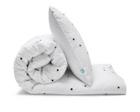 Schöne Kinderbettwäsche Punkte schwarz/ weiß Konfetti aus zertifizierter Baumwolle