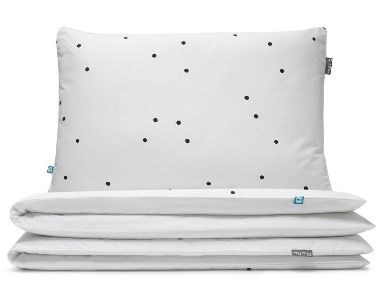 Kinderbettwäsche Punkte schwarz/ weiß aus hochwertiger Baumwolle