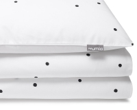 Gepunktete Baumwoll-Kinderbettwäsche Konfetti schwarz/ weiß
