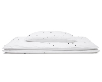 Hochwertige Bettwäsche Punkte schwarz/ weiß günstig online kaufen