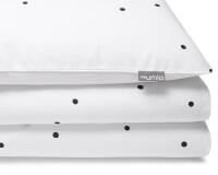 Gepunktete Baumwoll-Bettwäsche Konfetti schwarz/ weiß