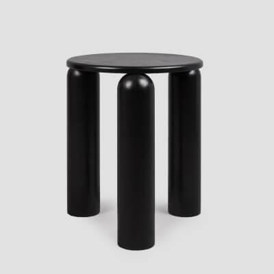 Handgemachte Tasse Triple in schwarz