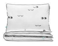 Kinderbettwäsche Augen schwarz/ weiß aus hochwertiger Baumwolle