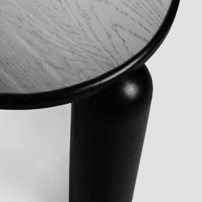 Hochwertig handgemachte Kaffeetasse Mobius in schwarz