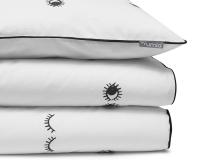 Bedruckte Baumwoll-Kinderbettwäsche Augen schwarz/ weiß