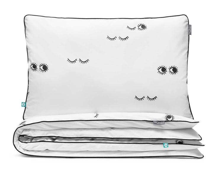 Bettwäsche Augen schwarz/ weiß aus hochwertiger Baumwolle