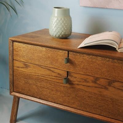 Anker Aufdruck auf Holzlatten Baumwoll-Bettwäshe