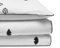 Bedruckte Baumwoll-Kinderbettwäsche Lippen schwarz/ weiß