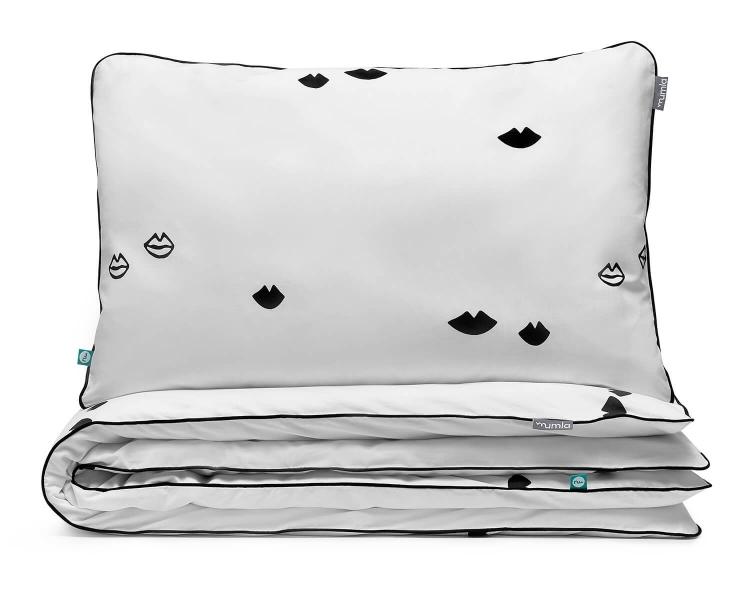 Bettwäsche Lippen schwarz/ weiß aus hochwertiger Baumwolle