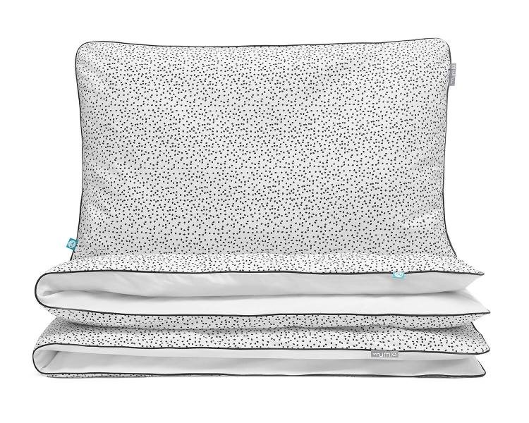 Kinderbettwäsche gepunktet schwarz/ weiß aus hochwertiger Baumwolle