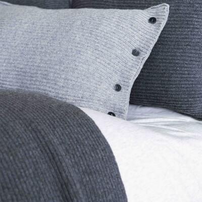 Kissenbezug Grau-Blau