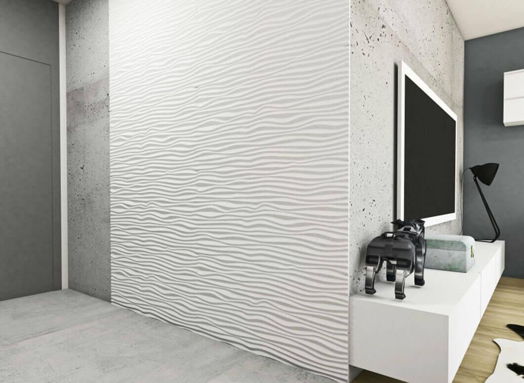 3D Wandpaneele aus MDF Holz