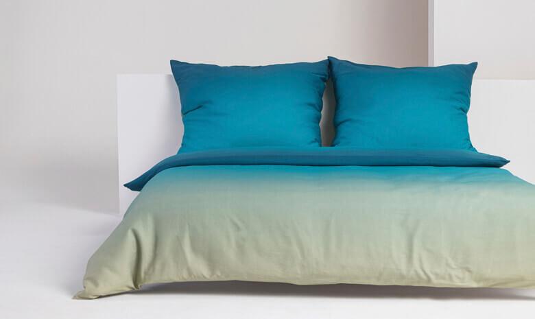 Foonka Bettwäsche Aqua blau türkis grün