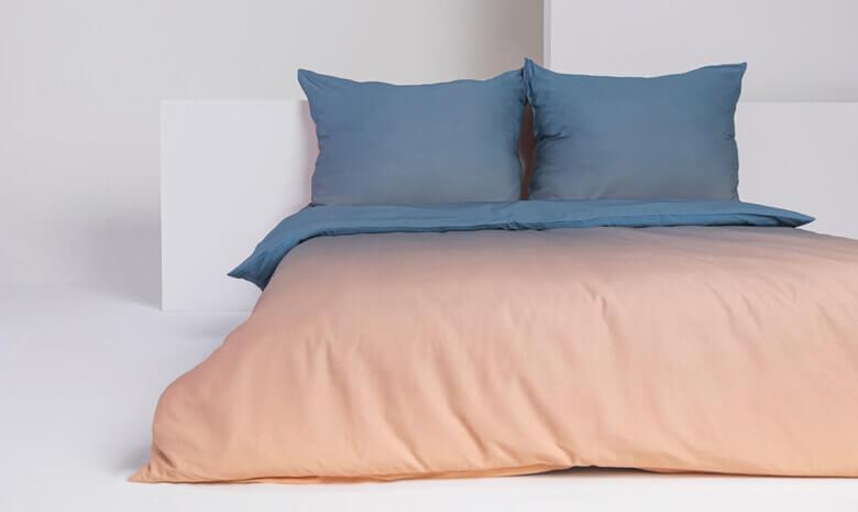 Foonka Bettwäsche Sunrise blau orange