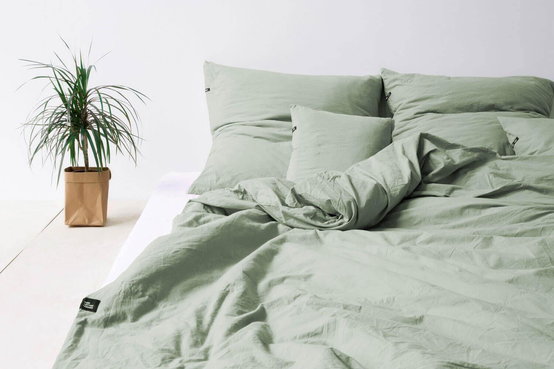 HOP Design PURE Bettwäsche salbeigrün